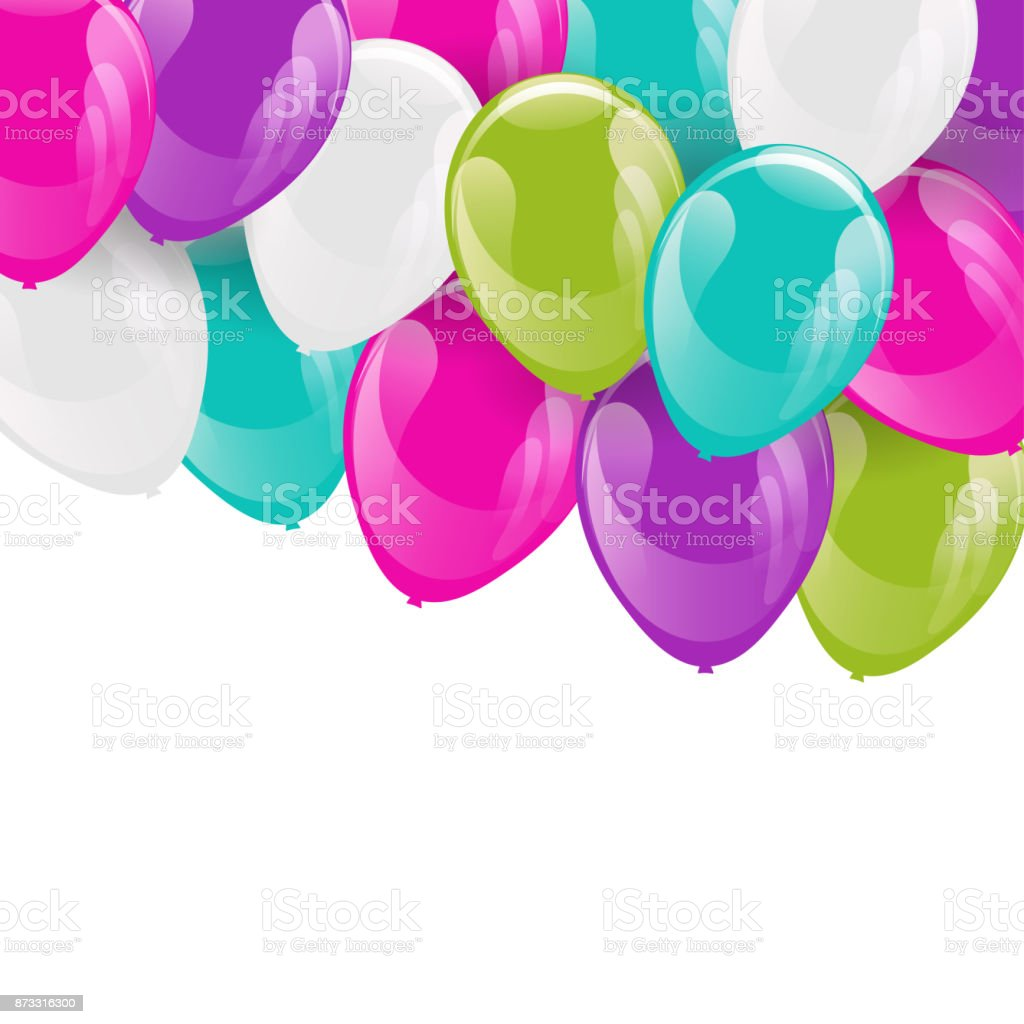Frame of balloons. vector art illustration