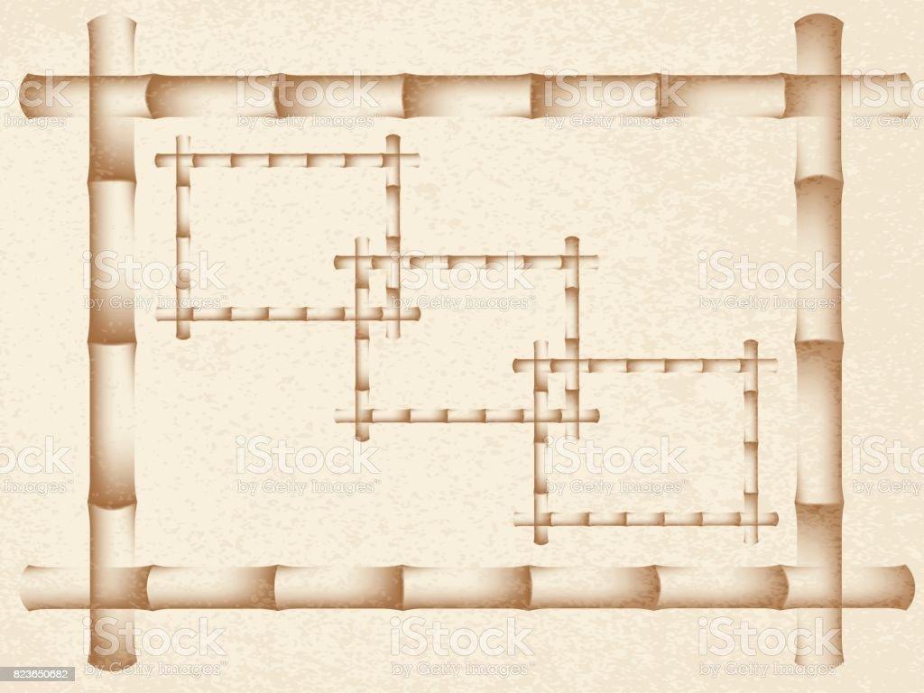 frame of bamboo vector art illustration