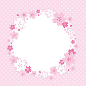 Frame of beautiful cherry blossom.