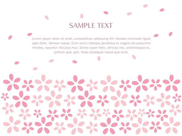 ilustrações de stock, clip art, desenhos animados e ícones de frame of flower image cherry blossoms - cherry blossoms