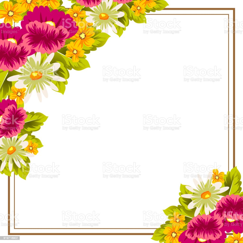 Frame of flowers for card designs greeting cards birthday frame of flowers for card designs greeting cards birthday invitations valentines day m4hsunfo