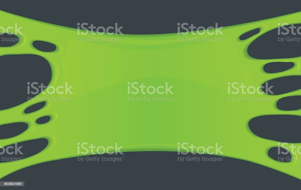 Frame of green sticky slime. vector art illustration