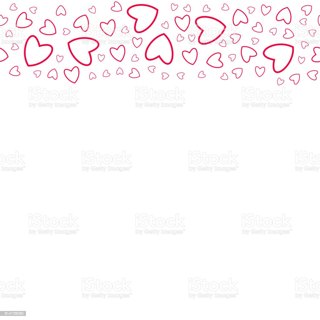 frame of hearts on a white background prints, greeting cards,...