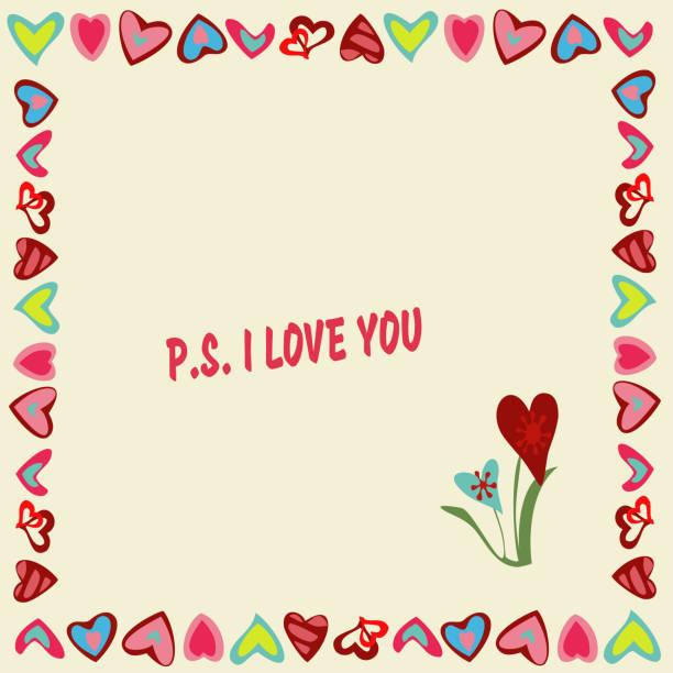 Vectores de P.S. I Love You y Illustraciones Libre de Derechos - iStock