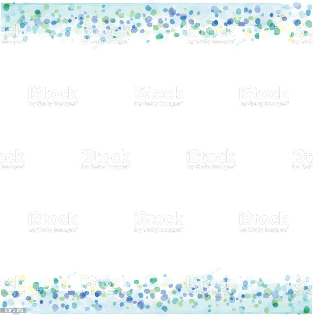 パステル カラー水彩テクスチャのフレーム ベクターアートイラスト