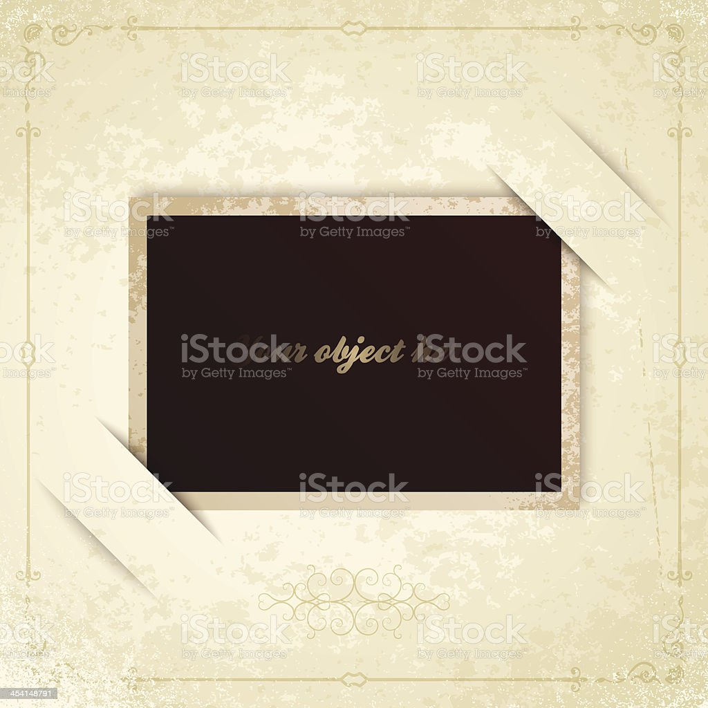Alter Vintage Fotorahmen Vektor Illustration 454148791 | iStock
