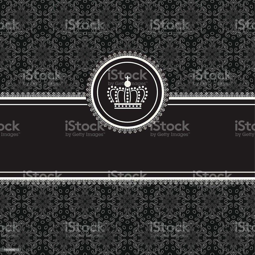 Frame on Damask Background vector art illustration