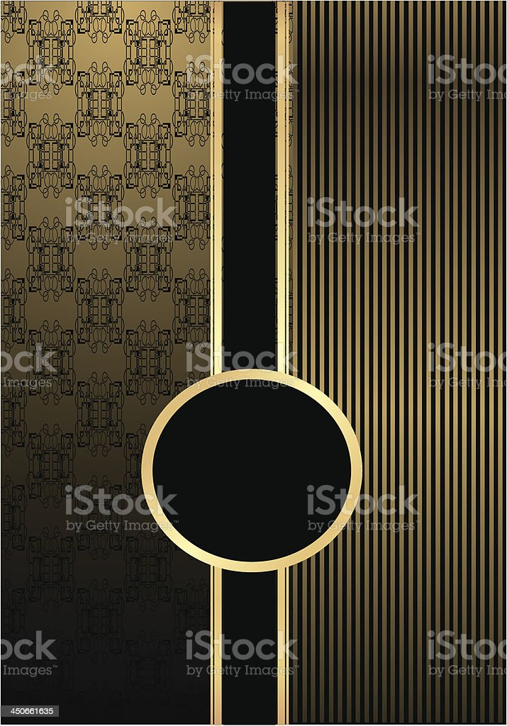 frame on damask background royalty-free frame on damask background stock vector art & more images of abstract