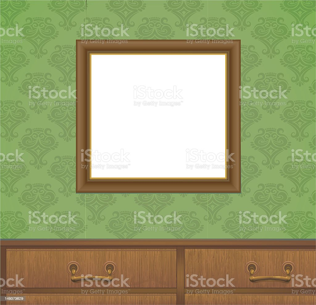frame on the wall vector art illustration