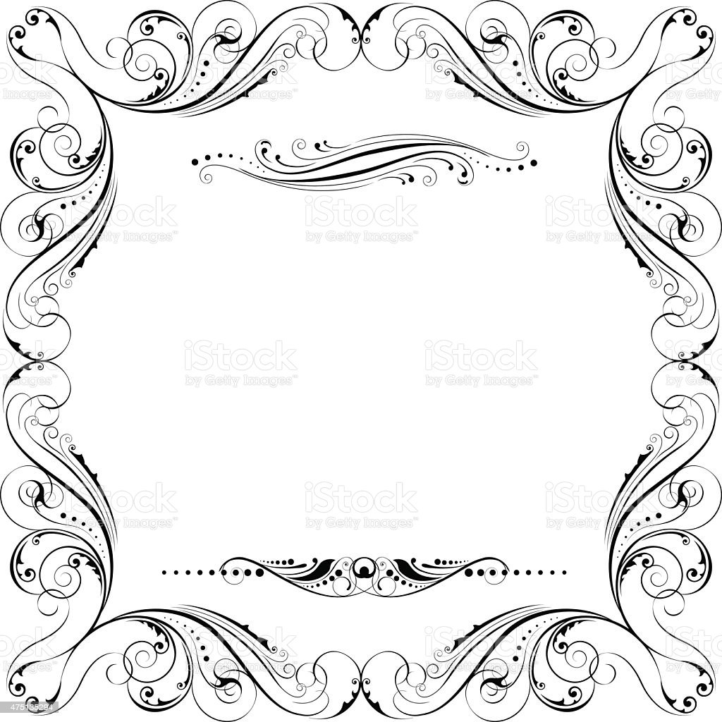 Frame Ornament Stock Vector Art & More Images of 2015 475135294   iStock