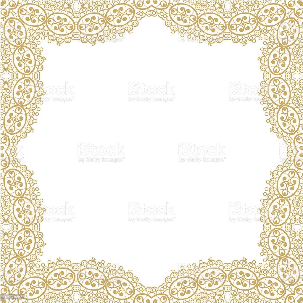 Frame ornament vintage floral design. royalty-free stock vector art