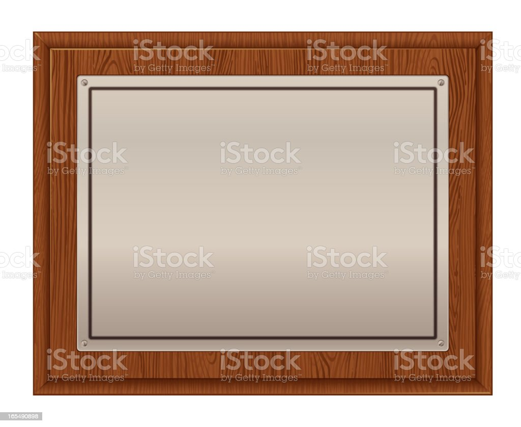 Frame plaque royalty-free stock vector art