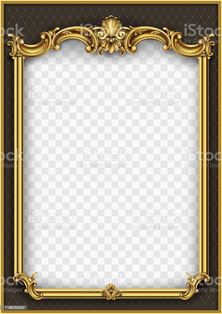 框架明信片封面金巴羅克羅可哥 - 免版稅傢俱圖庫向量圖形