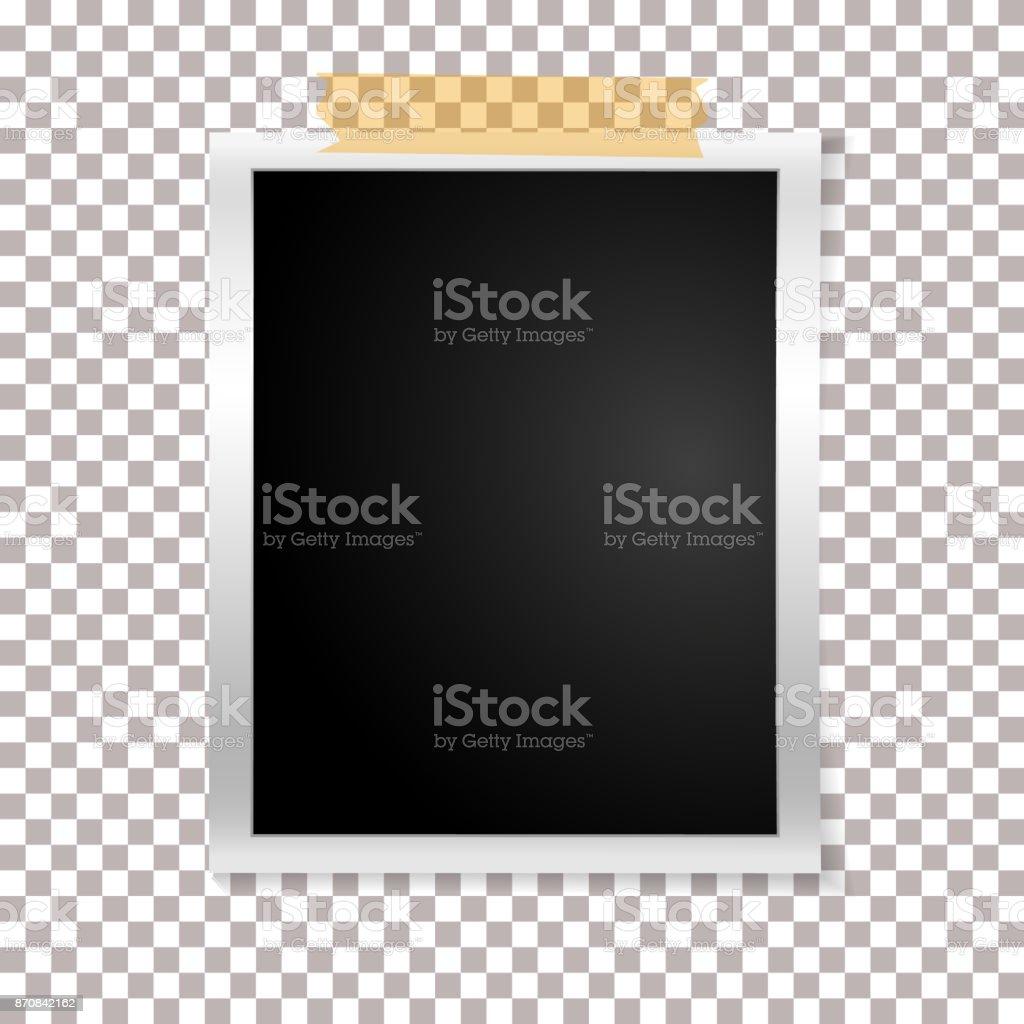 Rahmen Retrofoto Auf Transparentem Hintergrund Vintage Vertikale ...