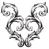 Frame scroll ornament - Illustration