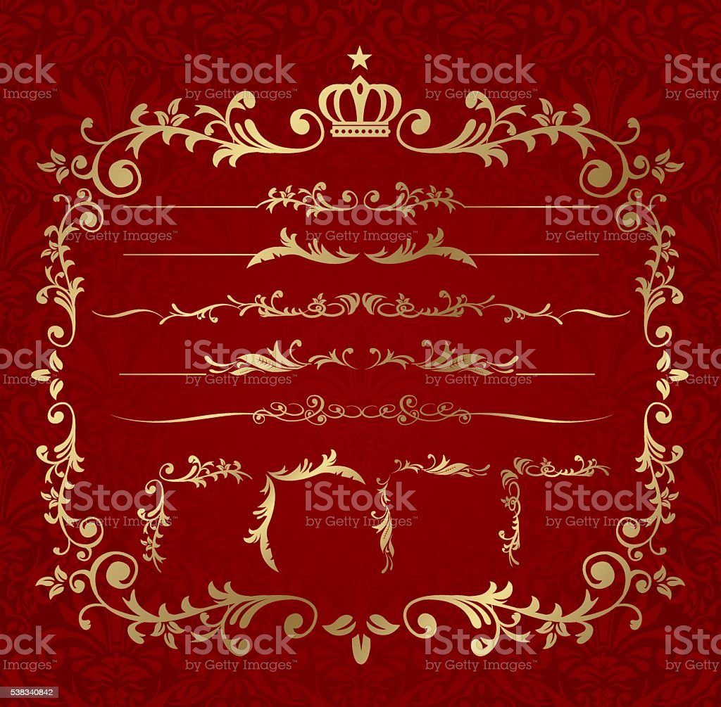 frame set Vector vector art illustration