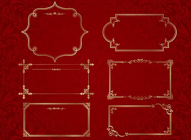ベクトルフレームセット - 装飾フレーム点のイラスト素材/クリップアート素材/マンガ素材/アイコン素材
