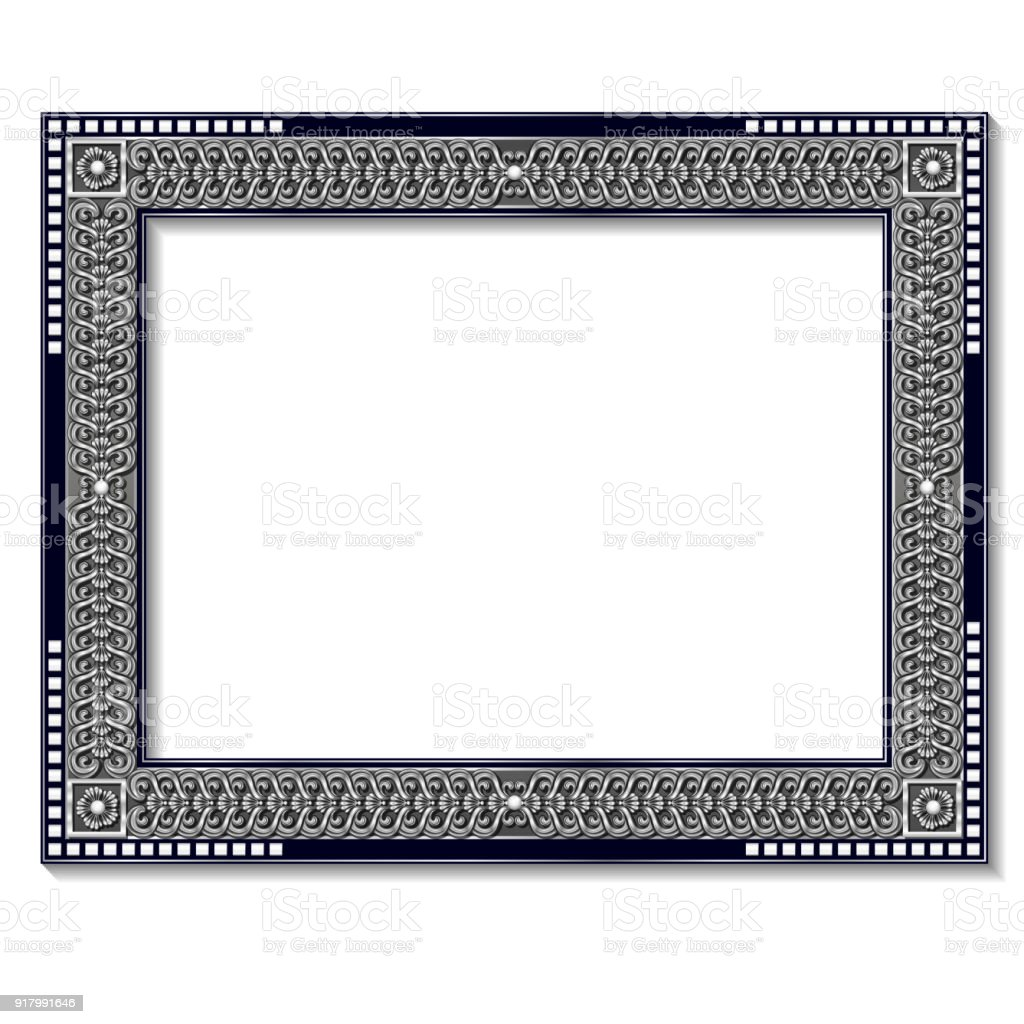 Frame Silver Color With Shadow Stock Vector Art & More Images of ...