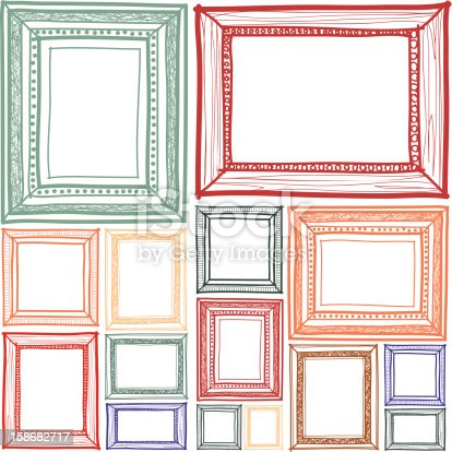 istock Frame sketchbook 158682717