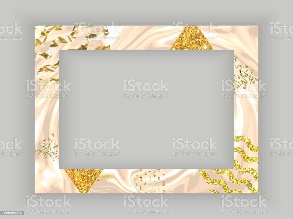 Texture De Modele Or Cadre Avec Bordure Carte Visite En Marbre Ou Arriere