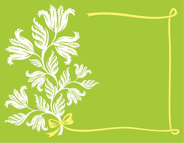 Rahmen mit einem weißen Blumenstrauß – Vektorgrafik