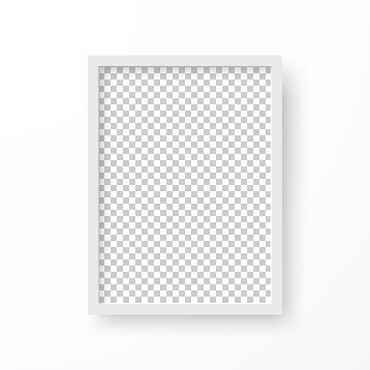 Frame with blank background, isolated on white background