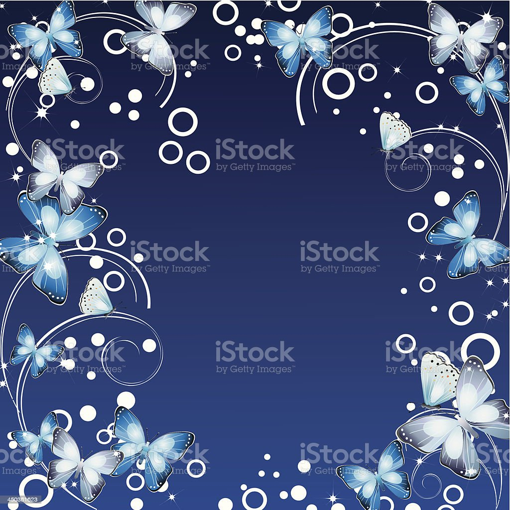 Frame with butterflies royalty-free frame with butterflies stock vector art & more images of animal antenna