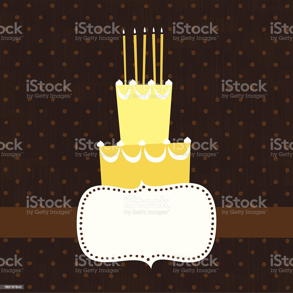 Frame with Cake royalty-free stock vector art