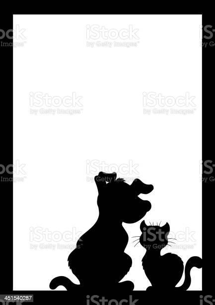 Frame with cat and dog silhouette vector id451540287?b=1&k=6&m=451540287&s=612x612&h=bphugazbm2jn4wyv09edojxbrfg2hexonpxjcvvsy0i=