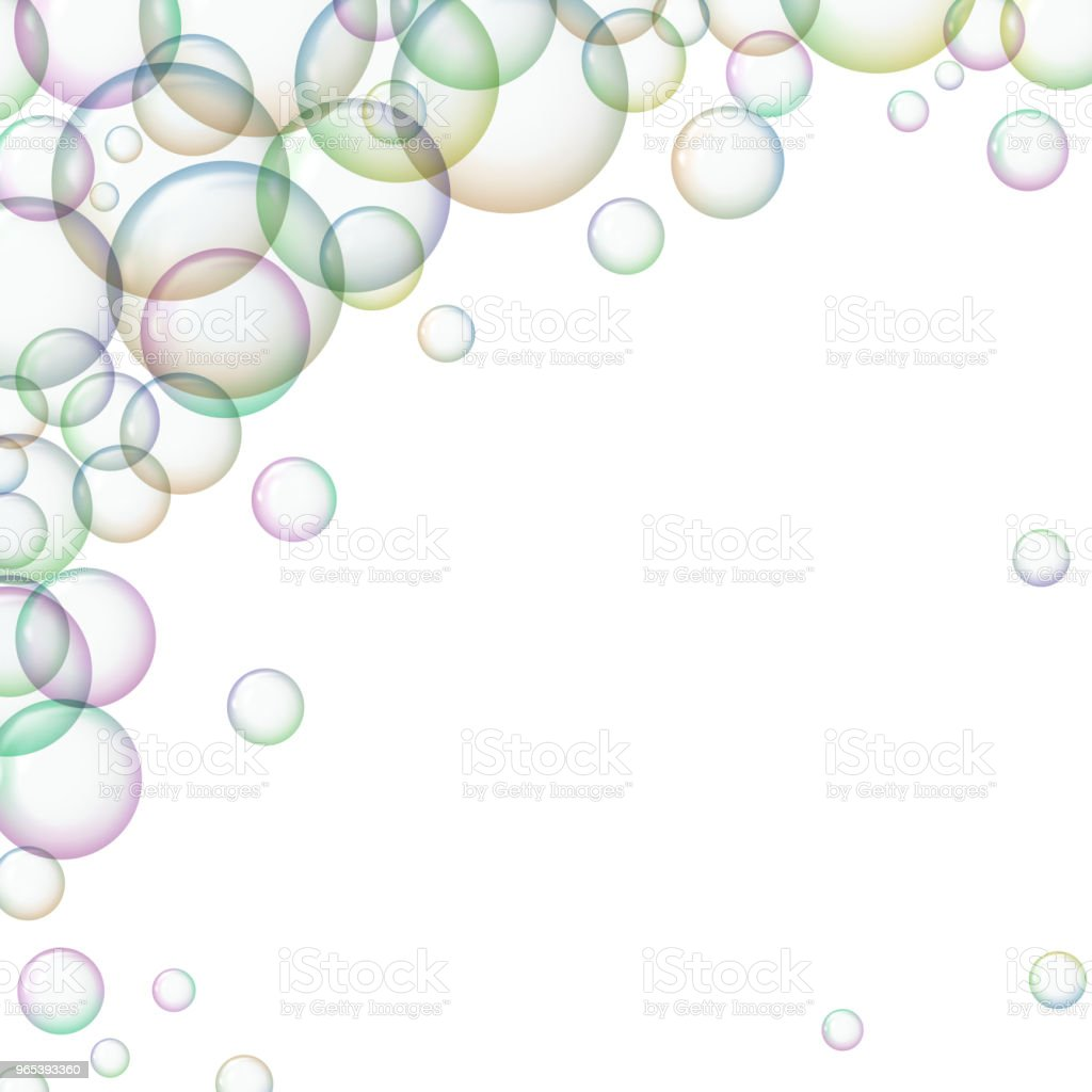 Frame with colorful soap bubbles. royalty-free frame with colorful soap bubbles stock vector art & more images of abstract