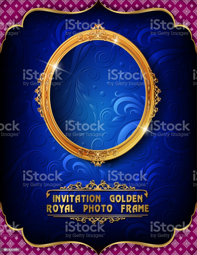 frame with corner Thailand line floral for picture - arte vettoriale royalty-free di Antico - Vecchio stile