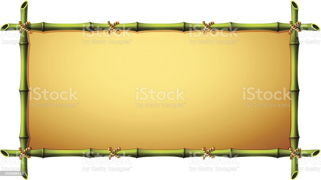 A frame with do picture made out of bamboo vector art illustration