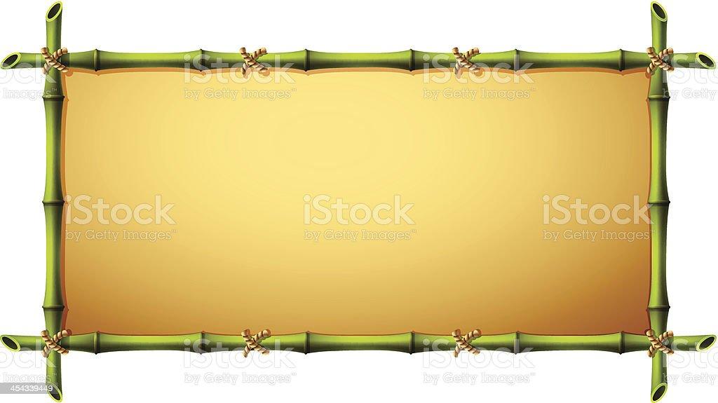 Bambus-Rahmen – Vektorgrafik