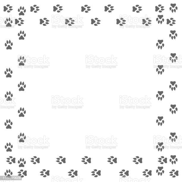 Frame with dog tracks isolated on white background vector vector id1160270028?b=1&k=6&m=1160270028&s=612x612&h=nr9hpxfcwq1zubnty4b9ndvzrwhn4xzmepm 8 uip2k=