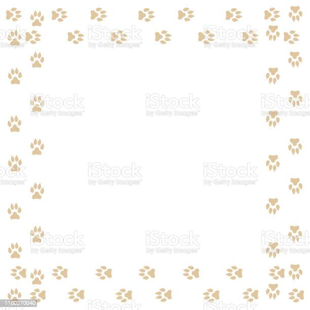 Frame with dog tracks isolated on white background vector vector id1160270040?b=1&k=6&m=1160270040&s=612x612&h=aj oekr rgyq4telmtkvdkmsbto5u tu13pooedjkfk=