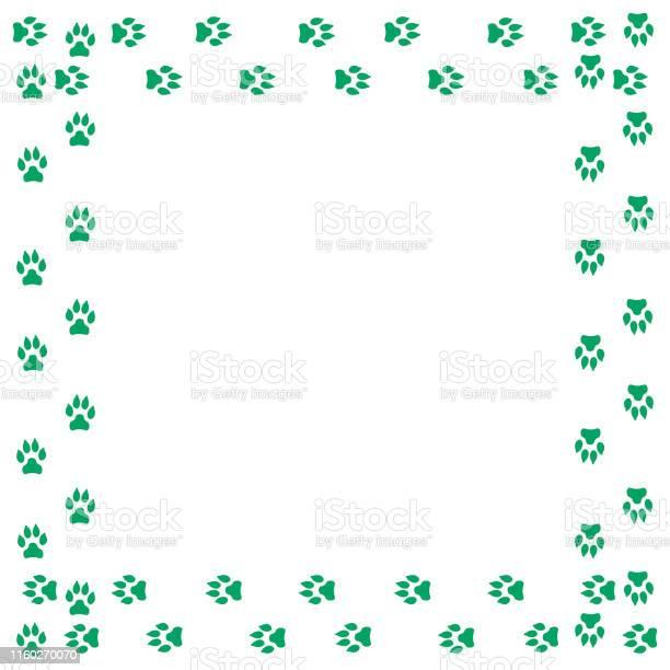 Frame with dog tracks isolated on white background vector vector id1160270070?b=1&k=6&m=1160270070&s=612x612&h=lbck3zcyzttsxdpnrwofkzp iesjrbbwaxiv9y0nxd8=