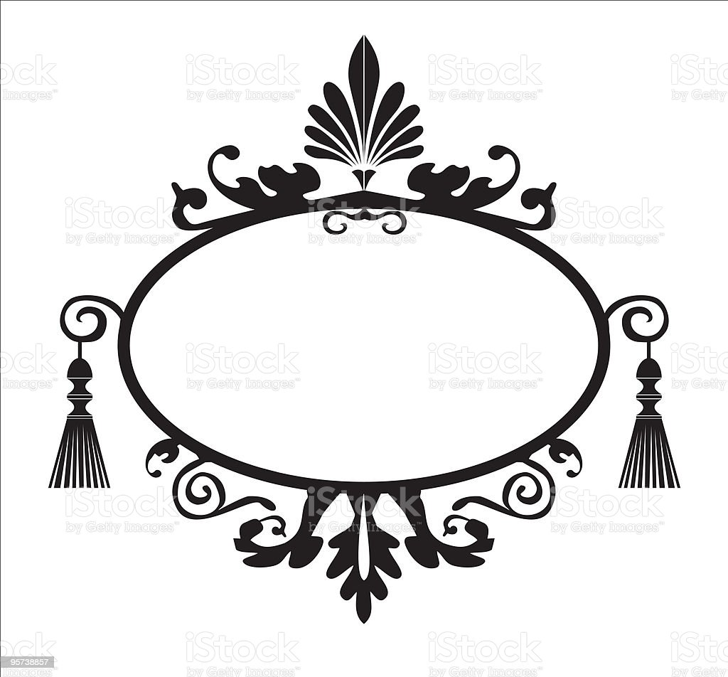 Frame with elements vector file vector art illustration
