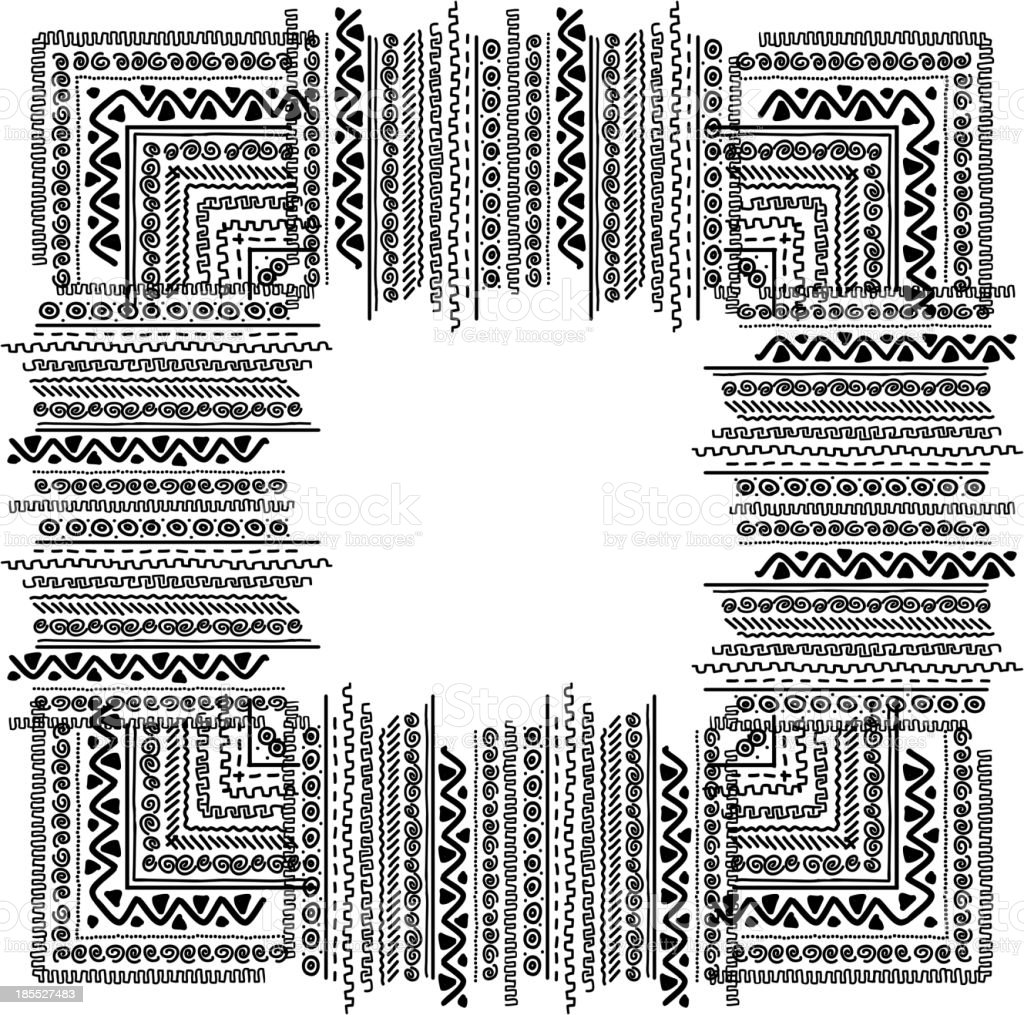 Frame with ethnic handmade ornament for your design royalty-free frame with ethnic handmade ornament for your design stock vector art & more images of abstract