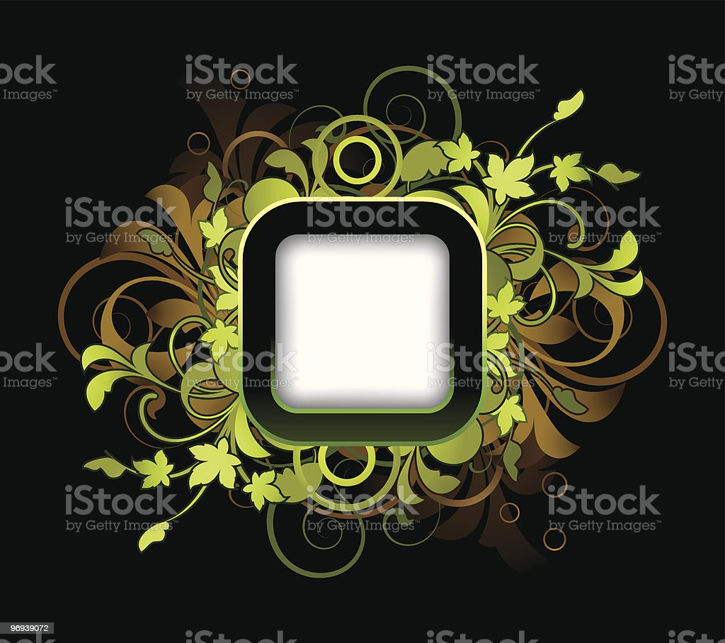 Frame with floral elements royalty-free frame with floral elements stock vector art & more images of abstract