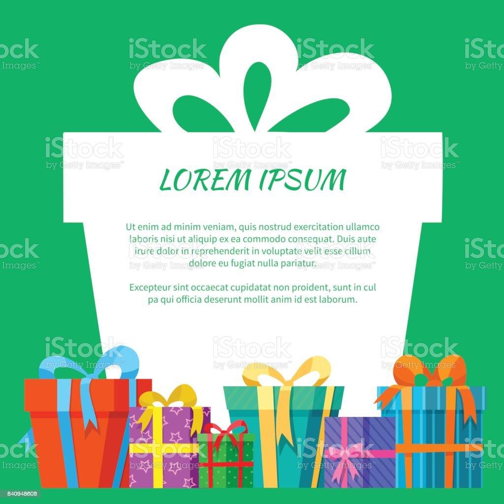 Rahmen Mit Geschenkboxengrußkarte Stock Vektor Art und mehr Bilder ...