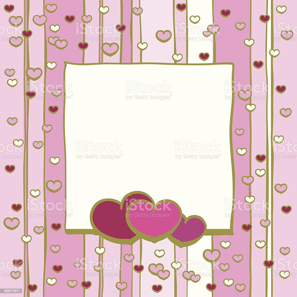 frame with hearts royalty-free stock vector art
