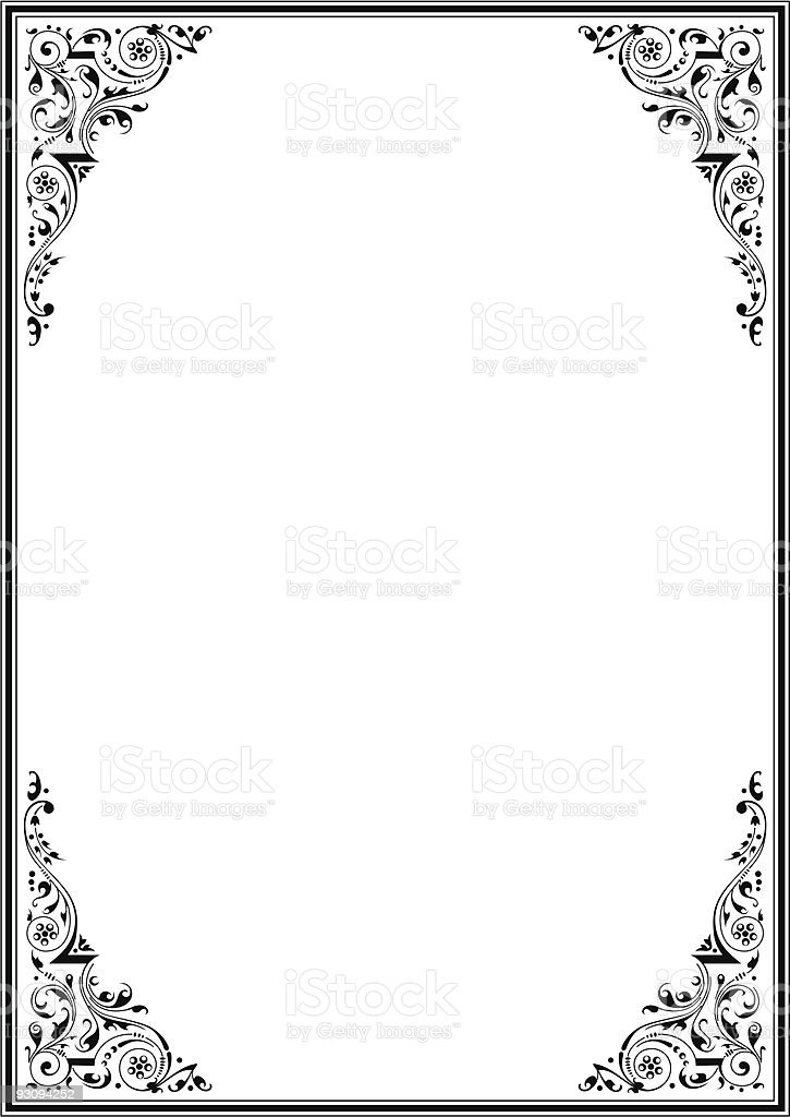 Frame with ornamental design 3 royalty-free frame with ornamental design 3 stock vector art & more images of art product