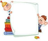 Frame with school children