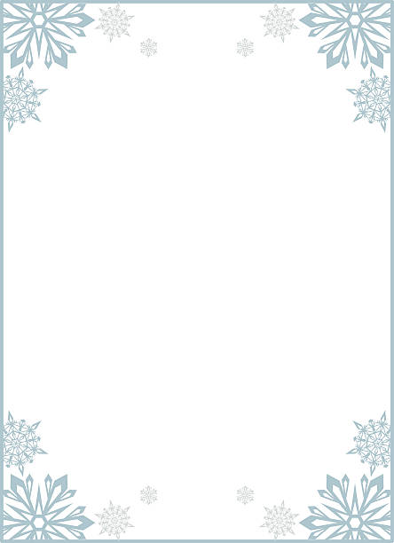 Frame with snowflakes. Copy space. - ilustración de arte vectorial