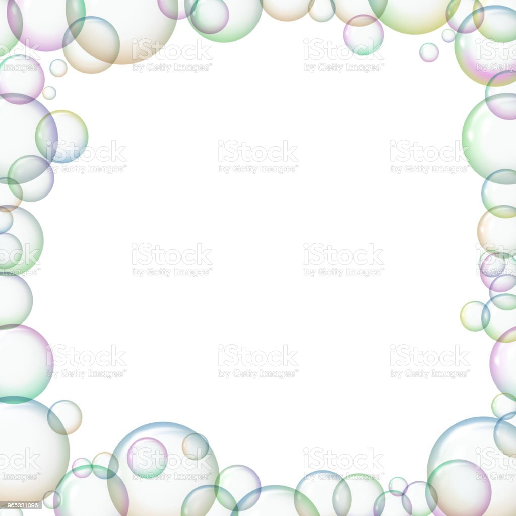 Frame with soap bubbles. royalty-free frame with soap bubbles stock vector art & more images of abstract