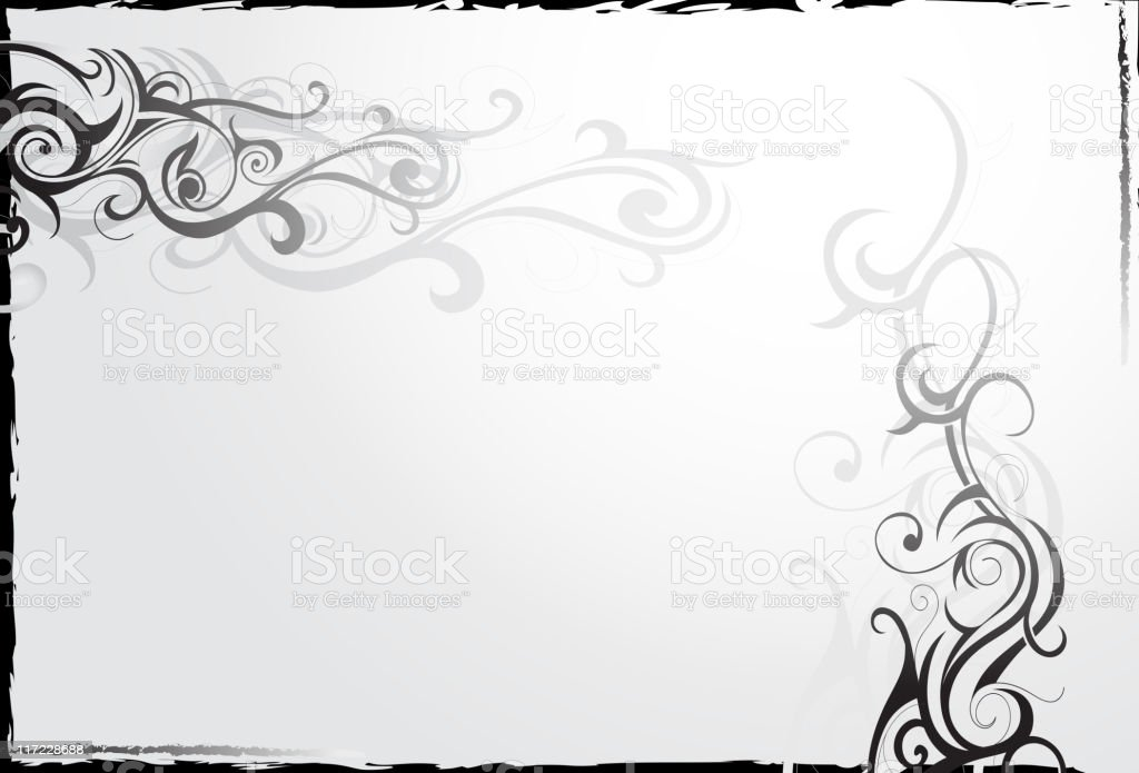 Frame with swirls royalty-free stock vector art