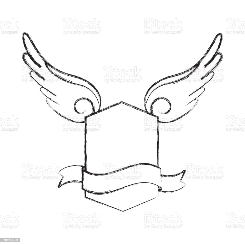 frame with wings icon royalty-free frame with wings icon stock vector art & more images of abstract