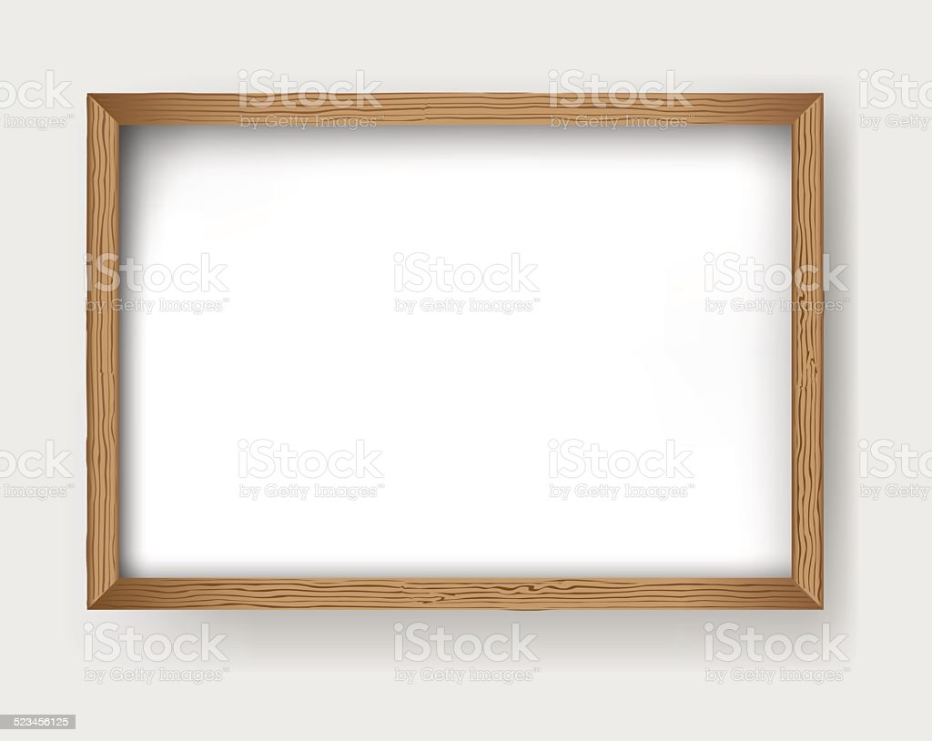Frame wood vector vector art illustration