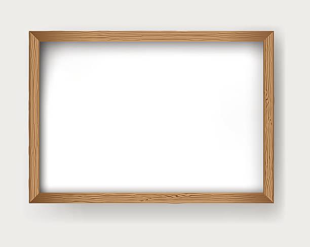 rama drewno wektor - wood texture stock illustrations