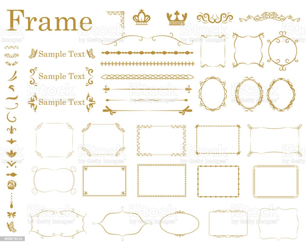 frame1 - Royalty-free Banner - Sign stock vector